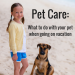 where to leave pets when going on vacation