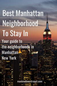 best manhattan neighborhood to stay in